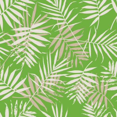 fabric patterns: Greenery palm leaves seamless pattern. Color of the year 2017 background. Greenery trendy background. Illustration