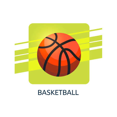 Basketball vector icon. Isolated vector illustration.