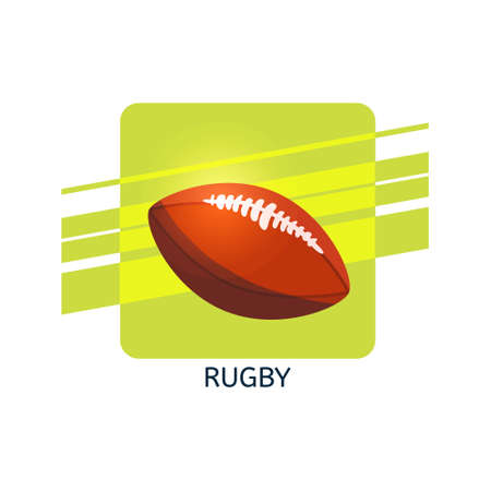Rugby ball vector icon. Isolated vector illustration.