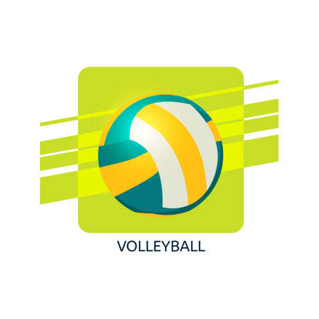 Volleyball vector icon. Isolated vector illustration.