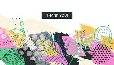 Abstract universall header. Modern graphic design. Hand Drawn creative textures. Web, poster, invitation, brochure, business card design idea. Vector trendy illustration.