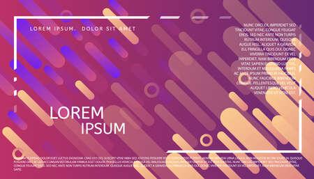 抽象ユニバーサル ヘッダー。モダンなグラフィックデザイン。最小限のスタイルの幾何学的背景。Web、ポスター、招待状、パンフレット、名刺デザ  イラスト・ベクター素材