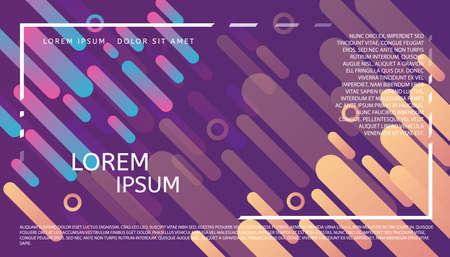 Abstract futuristic header. Trendy graphic design. Minimalist geometric background. Web, poster, invitation, brochure, business card design idea.