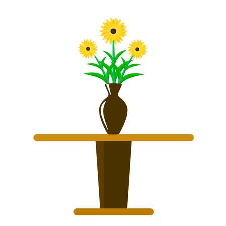 Vector illustration vase of flowers