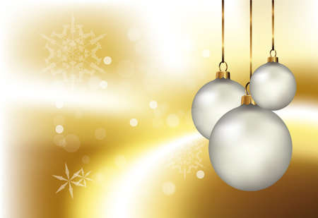 Golden christmas Stock Vector - 8363196