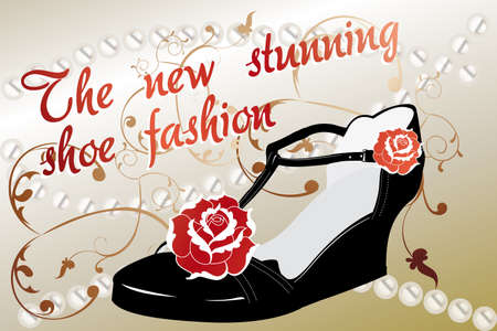 vintage retro advertisement for shoes Vector
