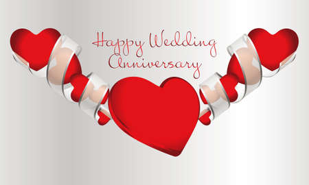 Happy Wedding Anniversary Illustration
