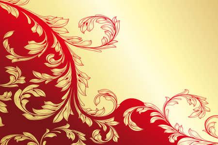 花のビンテージ彫刻カード