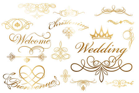 Calligraphic design elements and decoration - useful elements to embellish layouts Stock Vector - 11274382