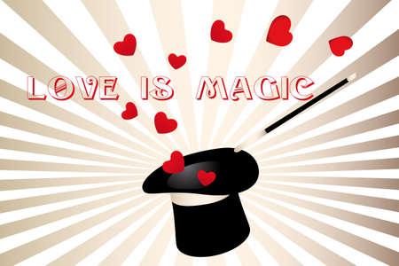 Love is magic - Valentine Illustration
