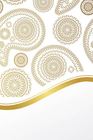 Luxury card with paisley design and copy-space