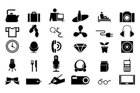 Black icons for life - Set 1 Vector