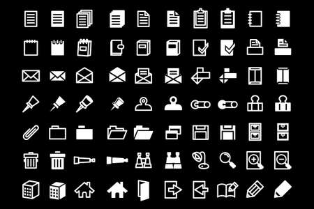 Set of high quality office and web icons