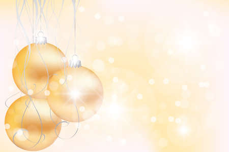 Elegant suggestive background with golden Christmas balls - Vector eps 10 Stock Vector - 16259333