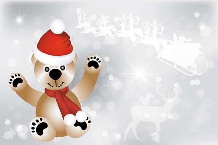 osos de peluche: Oso de peluche con Santa