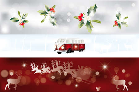 Set of various Christmas banner Stock Vector - 17247595