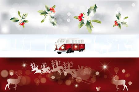 Set of vaus Christmas banner Stock Vector - 17247595