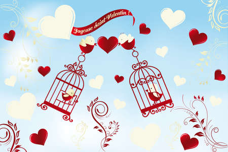 Valentine s Day card in French Vector