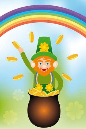 saint patrick's day: Card for the Irish Saint Patrick s Day
