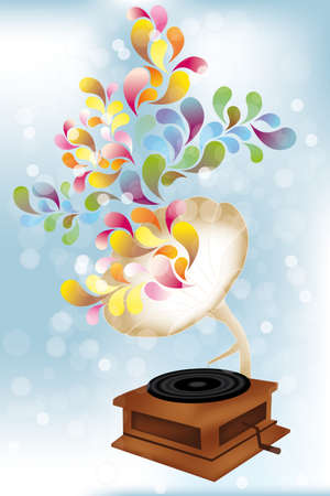 Creative music player illustration - eps 10 vectors Vector