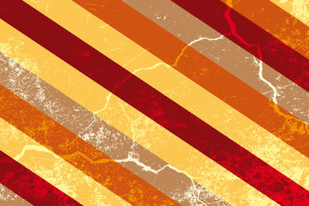 Retro stripes with grunge - background illustration Vector
