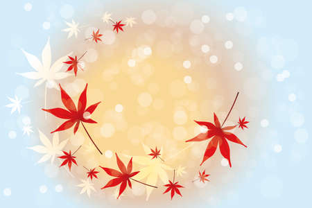 Autumn leaves background with place for text Vector