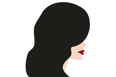 Fashion silhouette woman style, illustration