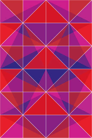 violett: Colorful triangles in red, violett and pink - abstract vector background