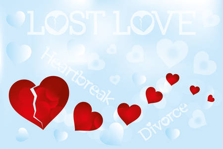 heartbreak: Heartbreak illustration, lost love