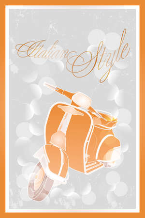 moped: Italian style moped - poster in retro look - available as jpg and eps-file