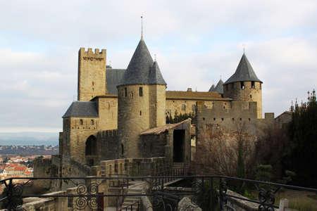 castello medievale: Impressione di Carcassonne - all'interno del villaggio - ben conservata città medievale