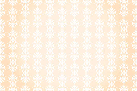 festive pattern: Vintage festive pattern on pastel background - illustration of seamless Victorian pattern