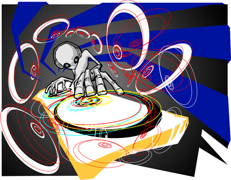 color mixing: Alien DJ