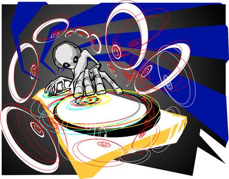 hand beats: Alien DJ