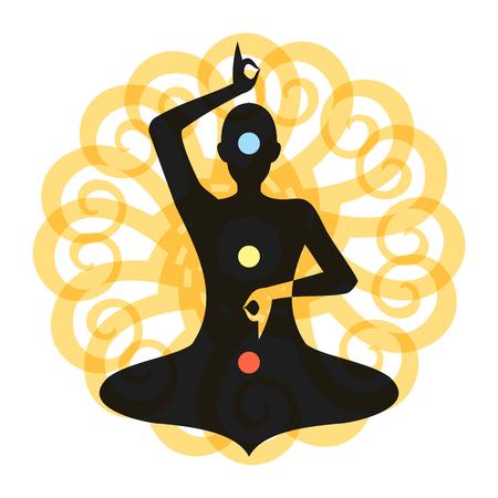Yoga Meditation Yellow Chakra Aura