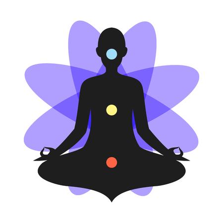 Yoga Meditation Purple Chakra Aura
