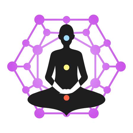 Yoga Meditation Violet Chakra Aura