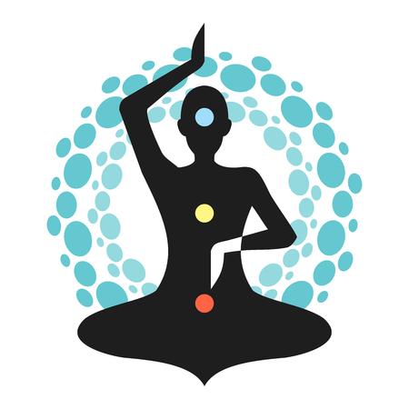 Yoga Meditation Cyan Chakra Aura