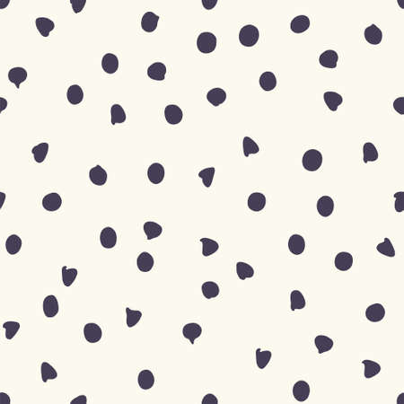Chocolate chip polka dots, seamless pattern