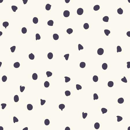 Chocolate chip polka dots, seamless pattern