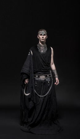 Model man in fantasy costume