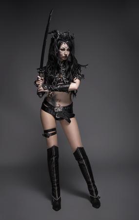 dark elf: Woman dark elf warrior