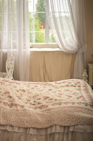 feminine: Feminine bedroom with bed