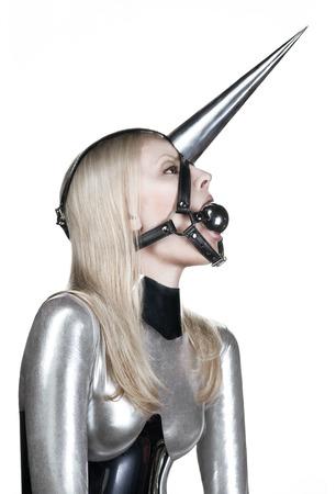 Femme avec gag bdsm fetish