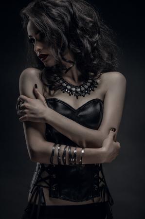 gothic woman: Portrait of gothic woman