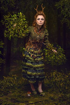 etnic: Forest girl with antlers