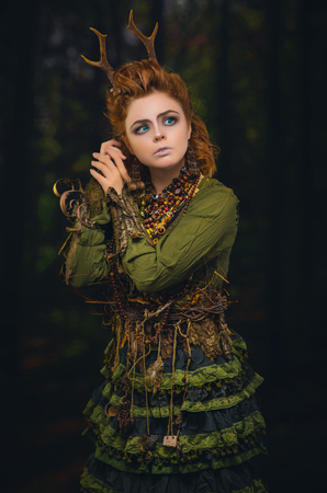 sylvan: Forest girl with antlers