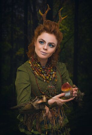 woodsy: Forest girl with antlers
