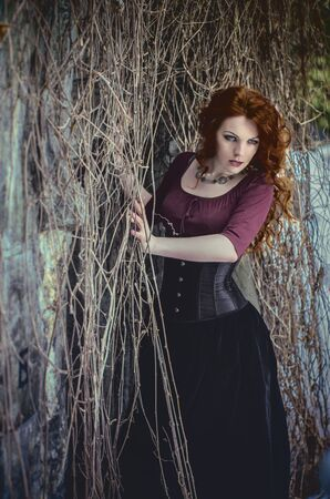 gothic woman: Gothic woman in black dress