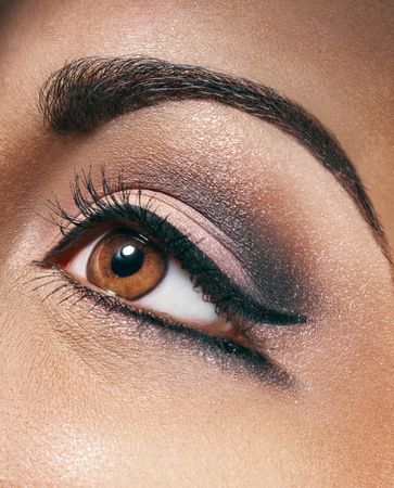 beauty shot: Brown eye. Macro beauty shot
